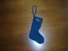Tractor Sock Ornament by yarnpusher, via Flickr