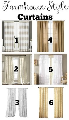 Budget Friendly Farmhouse Style Curtains