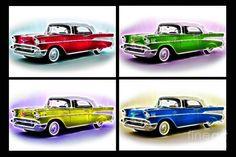 57 Chevy pop art