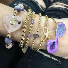 Set By Vila Veloni Lilac Collection Bracelets