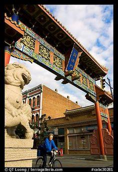 Gate to Chinatown area of Victoria, BC, Canada