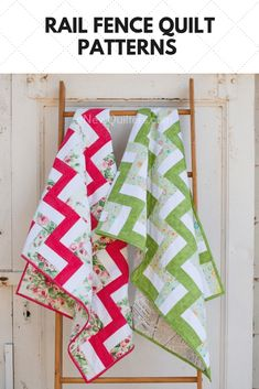 Sew Quilt The easy Rail Fence quilt block comes in lots of different variations that make for beautifully different quilts. Strip Quilts, Panel Quilts, Easy Quilts, Quilt Blocks, Quilting Projects, Quilting Designs, Quilting Ideas, Sewing Projects, Rail Fence Quilt