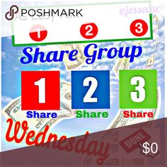 """WEDNESDAY 9/20 Thank you for joining! """"LIKE"""" if you want reminders!🎲  💰Sign Up: Tag your name on Daily Sheets ex: @jessecac 🎲Share 3 FOR SALE Items for each Posher listed. If they don't have 3 items, share as many as they have 3 times. You MUST have at least 2 items For Sale available. 💰Sign Up closes at 4:30pmEST 🎲Share Times: anytime that day. Finish by Midnight your time. 💰No comments until sign up is CLOSED! 🎲Use *** when saving your spot ✅SIGN OUT out once complete (Done)  NO…"""