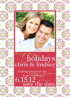 Holiday / Save the Date combo card