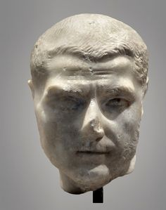 (c. 200-300 CE) Marble Head of a Roman Man Roman Man, Ancient Rome, Sculptures, Villa, Statue, Photo And Video, Marble, Portraits, Art