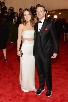 """Olivia Wilde and Jason Sudeikis - May 6, 2013 – NYC: Metropolitan Museum of Art, Costume Institute gala """"Punk: Chaos to Couture"""""""