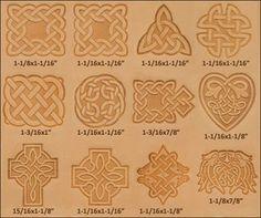 Celtic 3D-Stempel-Set, 11 Stück