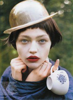 """White Nights""; Sasha Pivovarova by Tim Walker for British Vogue"