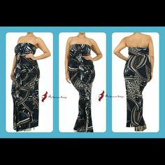 Perfect for the cruise Printed strapless full length dress with ruching and ruffle detail Dresses