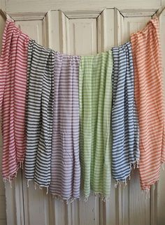 LOVE these! It's a towel, a scarf, a wrap, a blanket, so many uses!