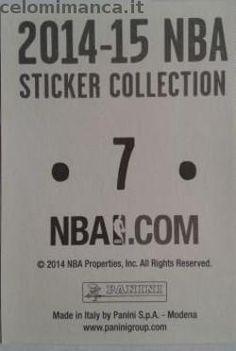 2014-15 NBA Sticker Collection: Retro Figurina n. 7 Rajon Rondo