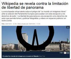 Wikipedia se revela contra la limitación de libertad de panorama / LaVanguardia | #readyforwikipedia #readytocopy