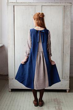 Apron that looks like a dress best apron dress ideas on aprons apron and apron dress linen apron dress pattern – Artofit Sewing Aprons, Sewing Clothes, Diy Clothes, Dress Sewing, Pinafore Apron, Pinafore Dress Pattern, Linen Apron, Magnolia Pearl, Apron Dress