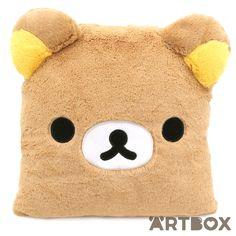 Buy San-X Rilakkuma Face Plush Square Cushion at ARTBOX