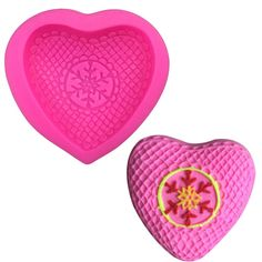Heart Embossed Shape Silicone Mold