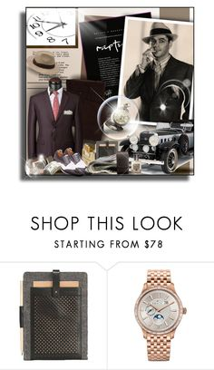 """A LITTLE BIT OF VINTAGE CHIC!"" by angelflair ❤ liked on Polyvore featuring Borsalino, Ostfold, Zenith, Acqua di Parma, vintage, men's fashion and menswear"
