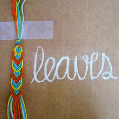 DIY friendship bracelet: leaves