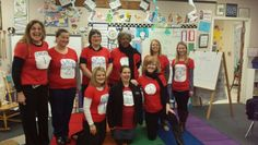 Read Across America Week.  Teacher 1 and Teacher 2