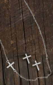 Montana Silversmiths® Cubic Zirconia Small Cross Necklace & Earrings Jewelry Set | Cavender's
