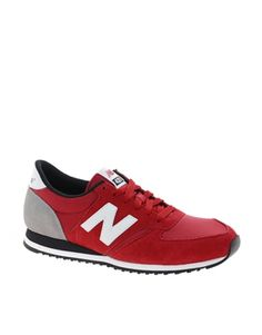 New Balance 420 Red Suede Sneakers