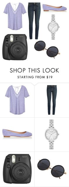 """""""Lavender """" by karis-huyser ❤ liked on Polyvore featuring Victoria's Secret, Yves Saint Laurent, Sergio Rossi, Kate Spade and Fujifilm"""
