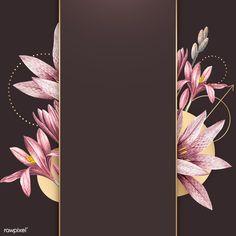 Pink amaryllis pattern with gold frame vector | premium image by rawpixel.com / Kappy Kappy Framed Wallpaper, Flower Background Wallpaper, Flower Backgrounds, Background Patterns, Planets Wallpaper, Instagram Frame, Floral Logo, Oval Frame, Flower Frame