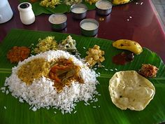 Food Kerala style. Lunch I love!