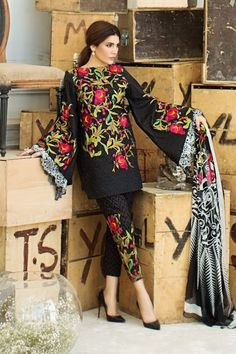 Sana Safinaz MAR17-13A Spring SummerLawn 2017 Price in Pakistan famous brand online shopping, luxury embroidered suit now in buy online & shipping wide nation..