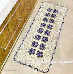 passadeiras em croche com flores em croche com receita