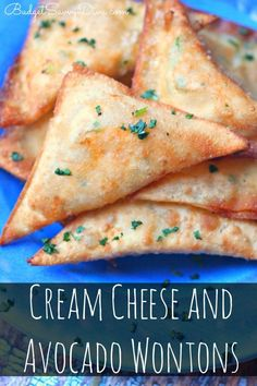 Cream Cheese and Avocado Wontons