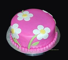 pink with white flowers birthday cake by Simply Sweets pink mit weißen Blumen Geburtstagstorte Sweet Birthday Cake, Pink Birthday Cakes, Birthday Cake With Flowers, Birthday Cakes For Teens, Birthday Cupcakes, Cake Flowers, Flower Cakes, Teen Birthday, Birthday Quotes