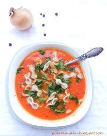 Paleta Smaku: Pomidorowo-cebulowa zupa krem Thai Red Curry, Ethnic Recipes, Food, Essen, Meals, Yemek, Eten
