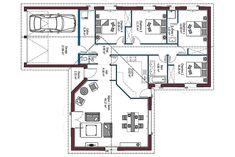 Plan maison 100m2 3 chambres house plans en 2019 plan maison plan maison 100m2 et maison 100m2 - Mca maisons de la cote atlantique ...
