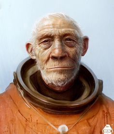 Outstanding Concept Art by Michael Kutsche  - the monkey we send up into space back in the 1950s - came back.