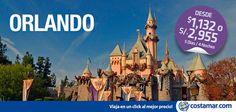 #ViajerosCostamar ¿Qué incluye esta promo a Orlando? Boleto aéreo + 04 noches Hotel Disney All Star Music Resort + 04 días de pasaporte básico (01 parque por día) Desde $ 1,132 - S/2,955. Compra hasta el 30 de Mayo. Viajes hasta el 13 Junio y del 16 Agosto al 10 Diciembre.