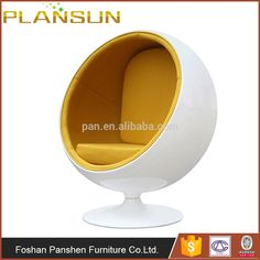 Modern Contemporary Design Furniture Replica White Shell Eero Aarnio Globe  Ball Chair Replica