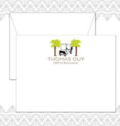 Retirement Golf Stationery Set of 10 includes by SpillingBeans