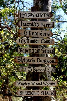 Far Away Signs Harry Potter Signs / Hogwarts by TheWelcomeSwallow, $20.00