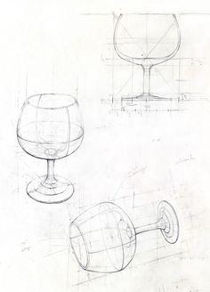 Glas, Bleistift, 2014