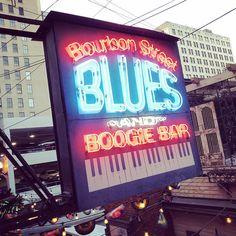 Bourbon Street in Printer's Alley. Nashville Bars, Bourbon Street, Blues, Neon Signs