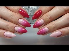 Pink&Nude Ombre Manicure - Jak zrobić ombre za pomocą pędzelka - Chioco Pro Uv Hybrid - YouTube
