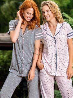 Yeni İnci Kadın Gömlek Pijama Takımı | Pijama.com.tr Pj, Sleep, How To Wear, Babydoll Sheep