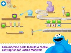 Cookie Monster's Challenge - a set of mini-games for preschool/kindergarten kids. Appysmarts score: 87/100