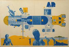 ARCHIGRAM - Instant City: pokład wielkiego samolotu ma stać się centrum kultury i rozrywki dla małomiasteczkowych społeczności.