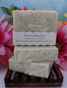 ROSEMARY CHAMOMILE Handmade Body soap with Goats Milk, Aloe Vera Juice, Rosemary and Chamomile infused Oils, Bergamont Essential Oil by SudsNScentsCo on Etsy
