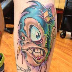 Crazy new school tattoo by Tony Ciavarro.