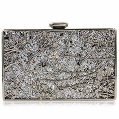 Milisente Women Champagne Metal Gold Flower Pattern Hard Case Evening Clutch Bag Purse With Diamond Closure-in Clutches from Luggage & Bags on Aliexpress.com | Alibaba Group