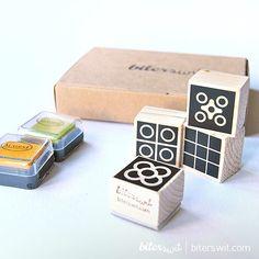 DIY kit BARCELONA TILES Stamps. Rubber stamps kit Bcn. Minimal rubber stamps. Barcelona Lovers. Scrapbook Barcelona. Barcelona gift box.