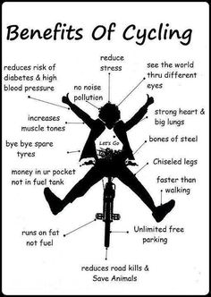 Friday bike poster: health benefits of cycling Cycling Motivation, Cycling Quotes, Cycling Tips, Road Cycling, Fitness Motivation, Cycling Workout, Cycling Art, Bike Workouts, Swimming Workouts