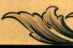 Sam Alfano's Tips & Tricks for Hand Engravers - Shading Variations Picture Engraving, Metal Engraving, Filigree Tattoo, Woodcut Art, Baroque Design, Silver Work, Vintage Lettering, Scroll Design, Flourishes